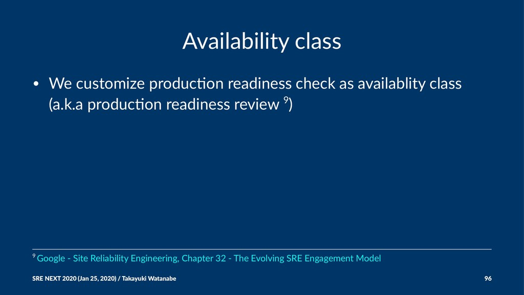 Availability class • We customize produc0on rea...
