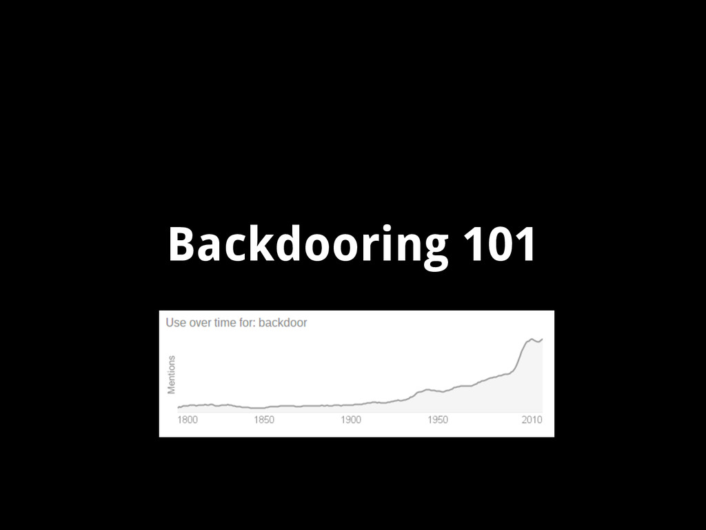 Backdooring 101