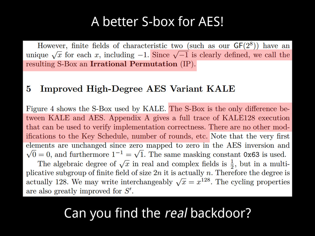 A better S-box for AES! Can you find the real b...