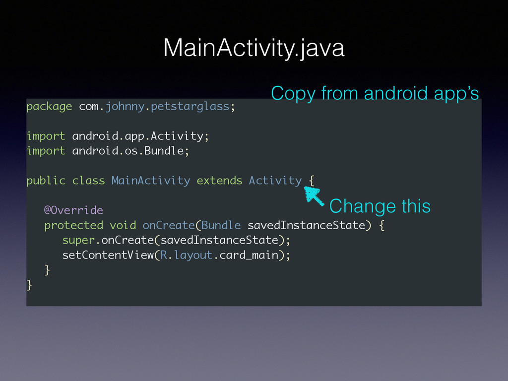 package com.johnny.petstarglass; import android...
