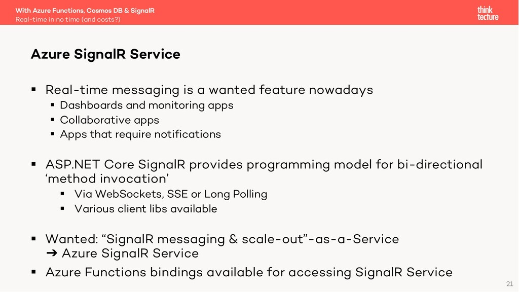 21 § Real-time messaging is a wanted feature no...