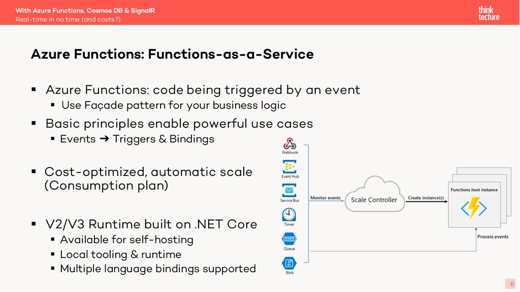 8 § Azure Functions: code being triggered by an...