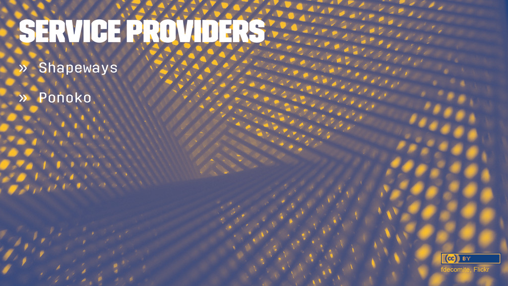 SERVICE PROVIDERS » Shapeways » Ponoko