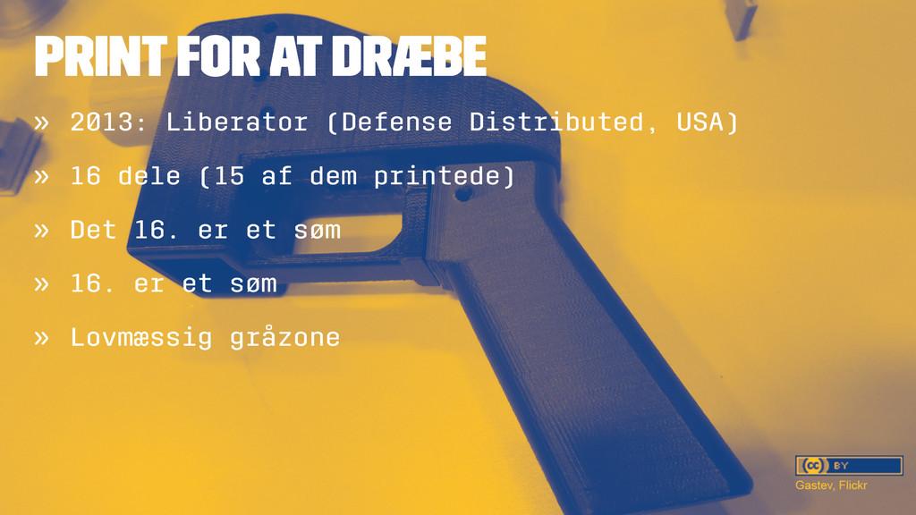 PRINT FOR AT DRÆBE » 2013: Liberator (Defense D...