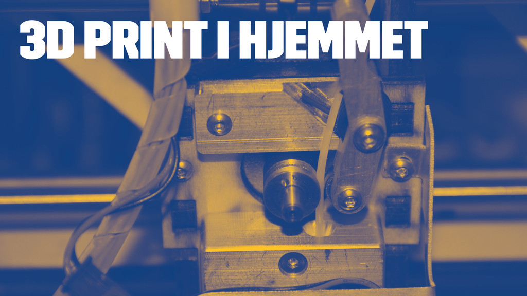 3D PRINT I HJEMMET