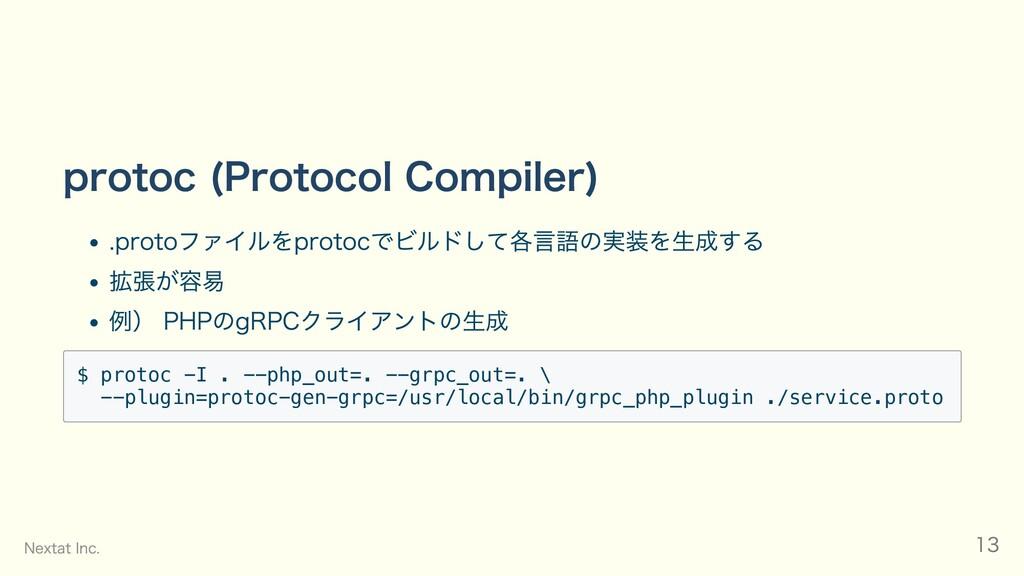 protoc (Protocol Compiler) .protoファイルをprotocでビル...