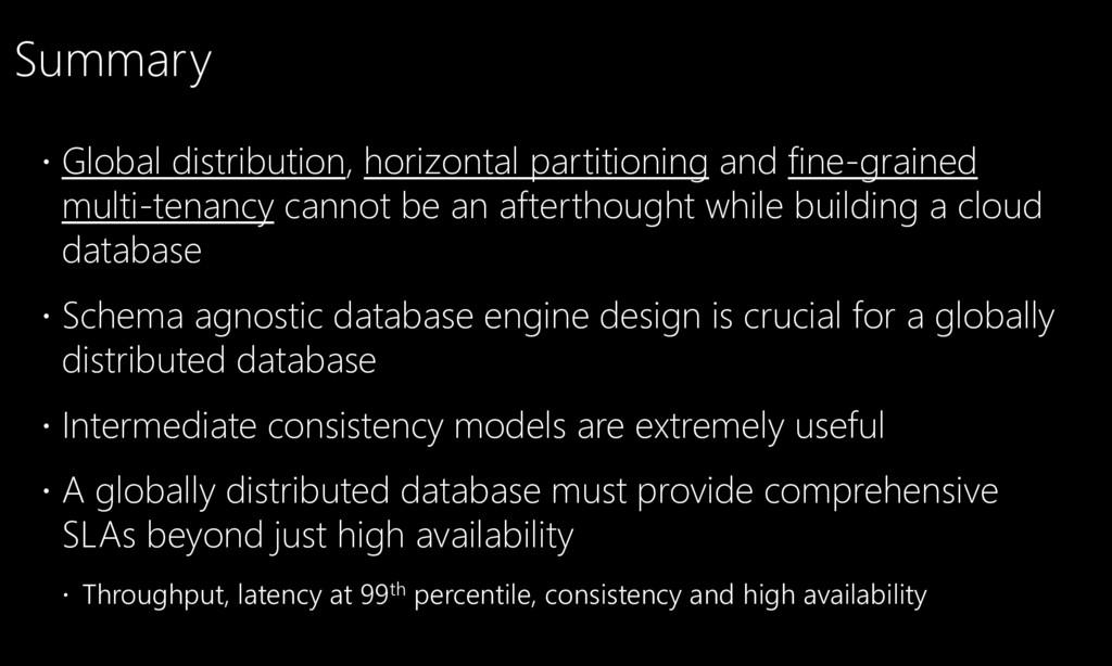  Global distribution, horizontal partitioning ...