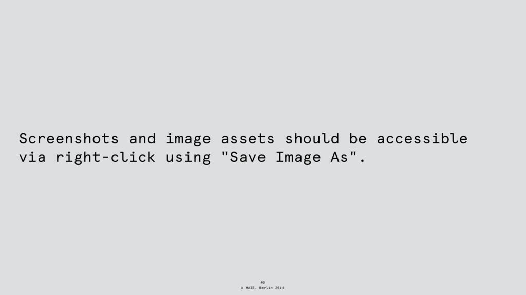 A MAZE. Berlin 2016 Screenshots and image asset...