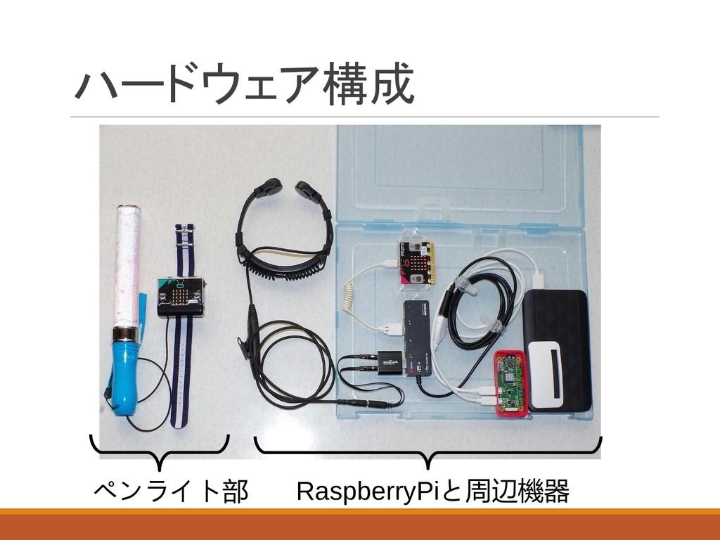 ハードウェア構成 ペンライト部 RaspberryPiと周辺機器