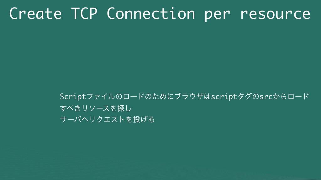 Create TCP Connection per resource ScriptϑΝΠϧͷϩ...