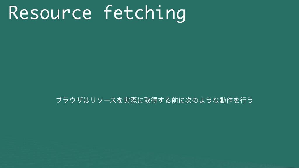 Resource fetching ϒϥβϦιʔεΛ࣮ࡍʹऔಘ͢ΔલʹͷΑ͏ͳಈ࡞Λߦ͏