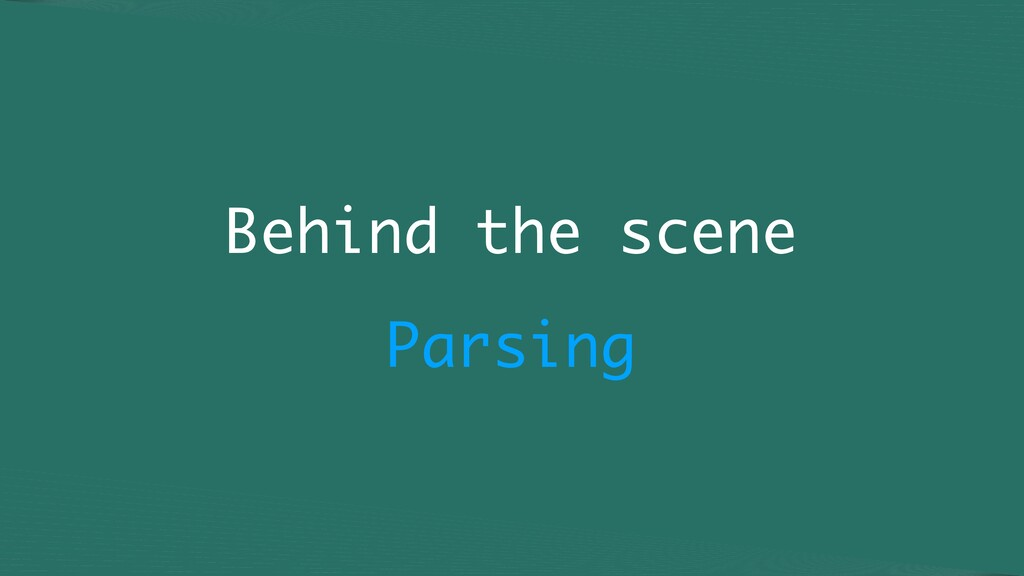 Behind the scene Parsing