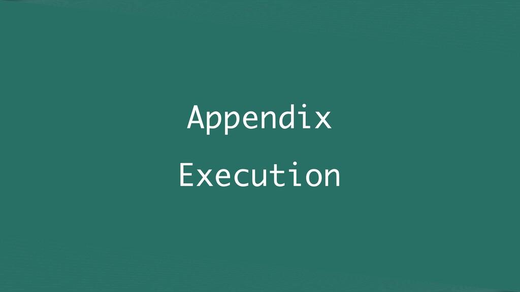 Appendix Execution
