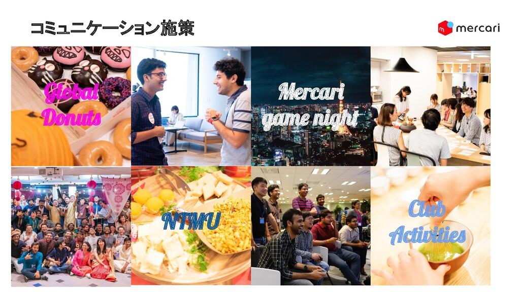 コミュニケーション施策 19 Mercari game night Global Donuts...