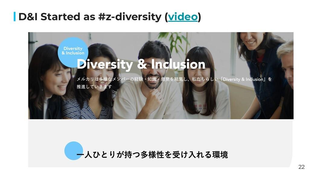 D&I Started as #z-diversity (video) 22
