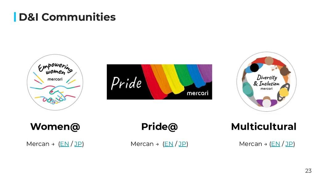 Women@ D&I Communities Multicultural Pride@ 23 ...