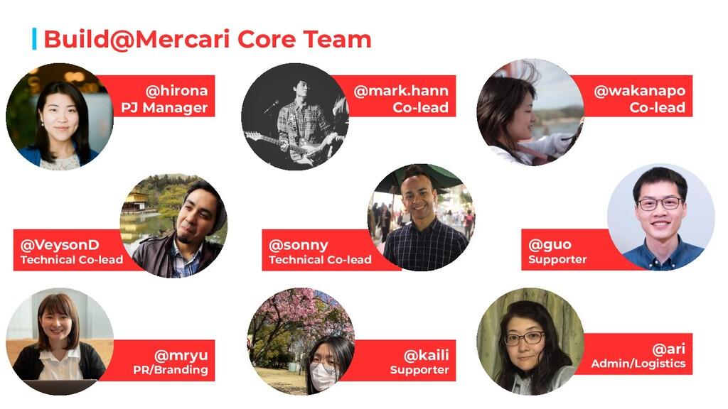 Build@Mercari Core Team @hirona PJ Manager @mar...