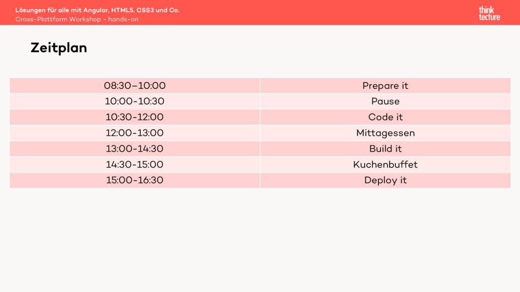 08:30–10:00 Prepare it 10:00-10:30 Pause 10:30-...