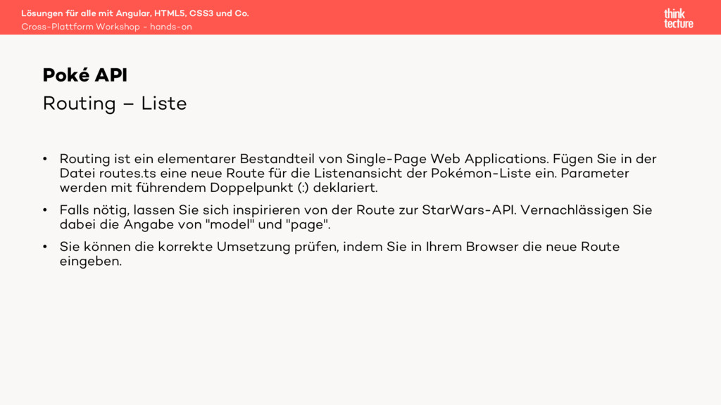 Lösungen für alle mit Angular, HTML5, CSS3 und ...