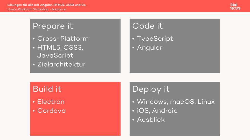 Prepare it • Cross-Platform • HTML5, CSS3, Java...