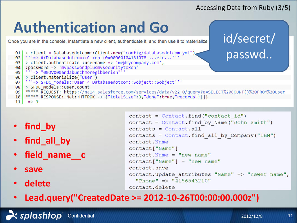 11 Confidential Authentication and Go 2012/12/8...