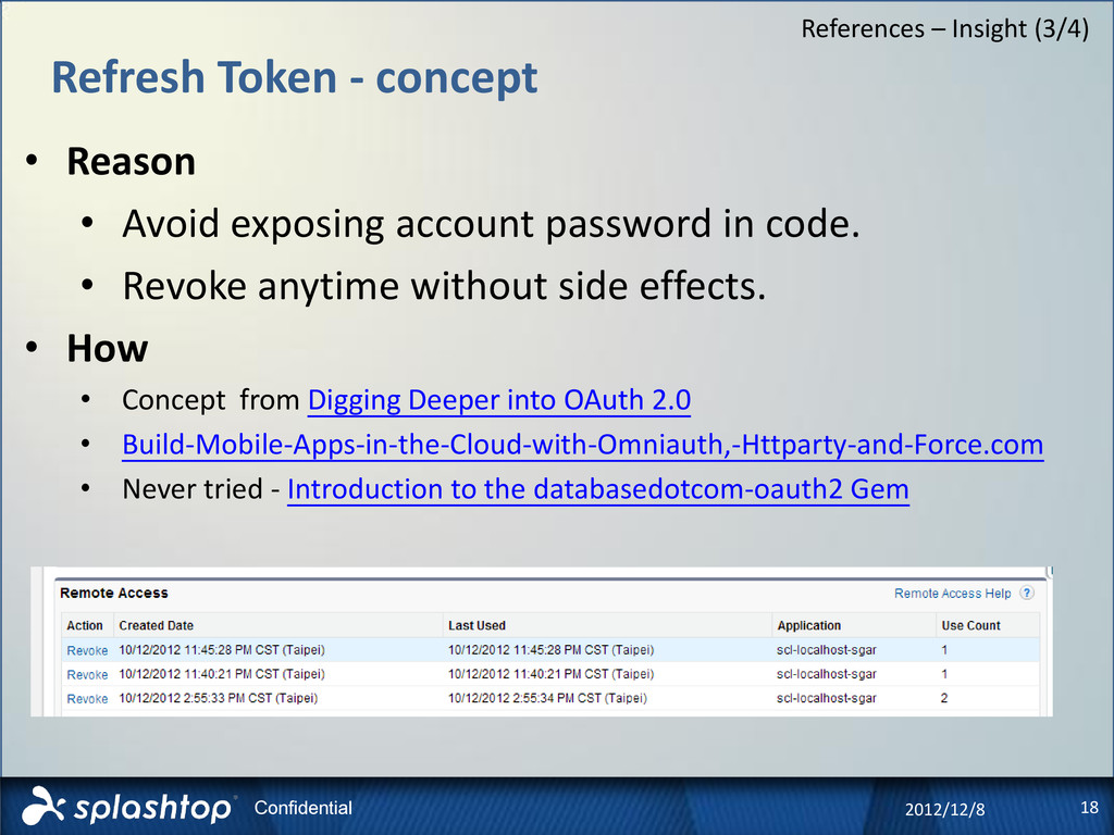 18 Confidential Refresh Token - concept 2012/12...