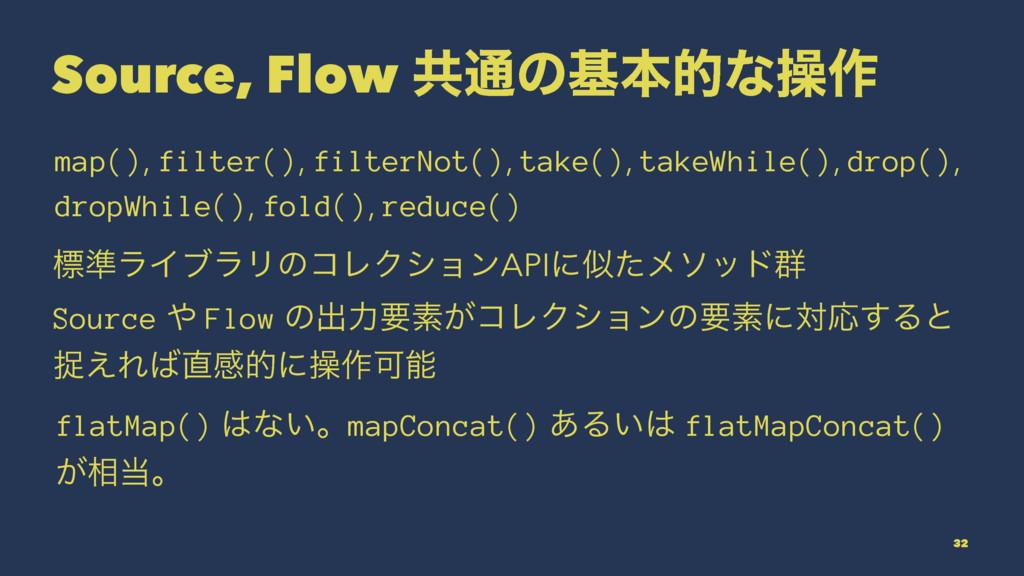 Source, Flow ڞ௨ͷجຊతͳૢ࡞ map(), filter(), filterN...