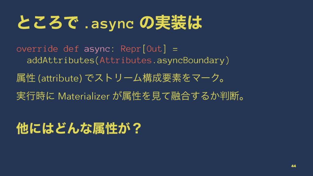 ͱ͜ΖͰ .async ͷ࣮ override def async: Repr[Out] ...
