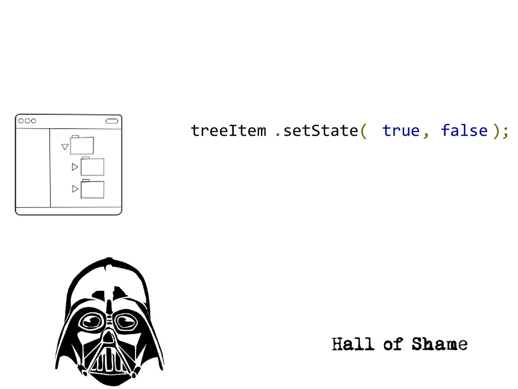 .setState( ); treeItem true, false