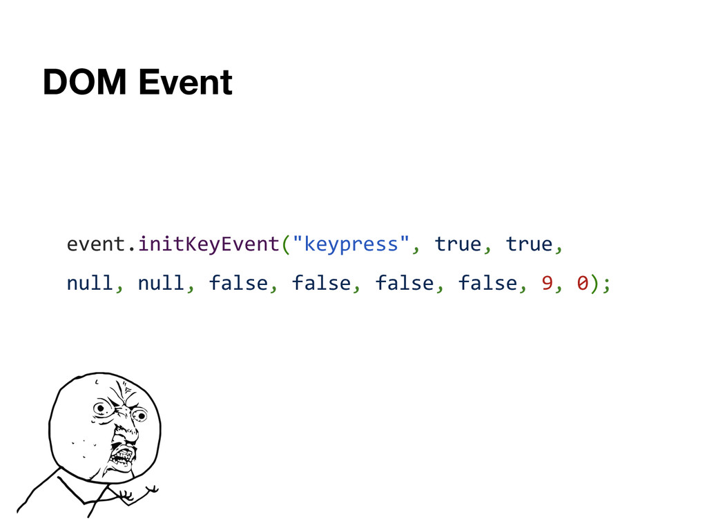 "DOM Event event.initKeyEvent(""keypress"", true, ..."