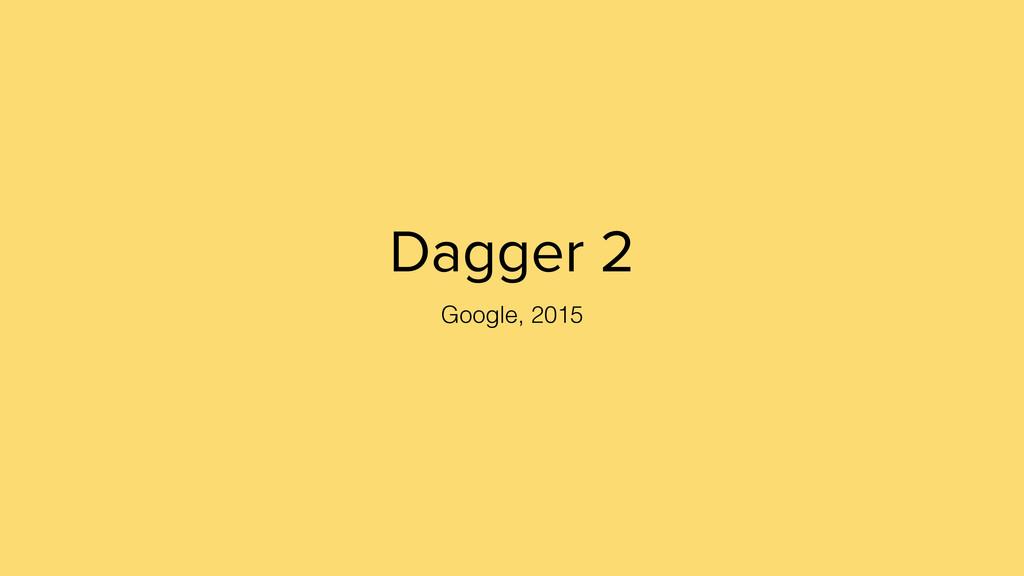 Dagger 2 Google, 2015