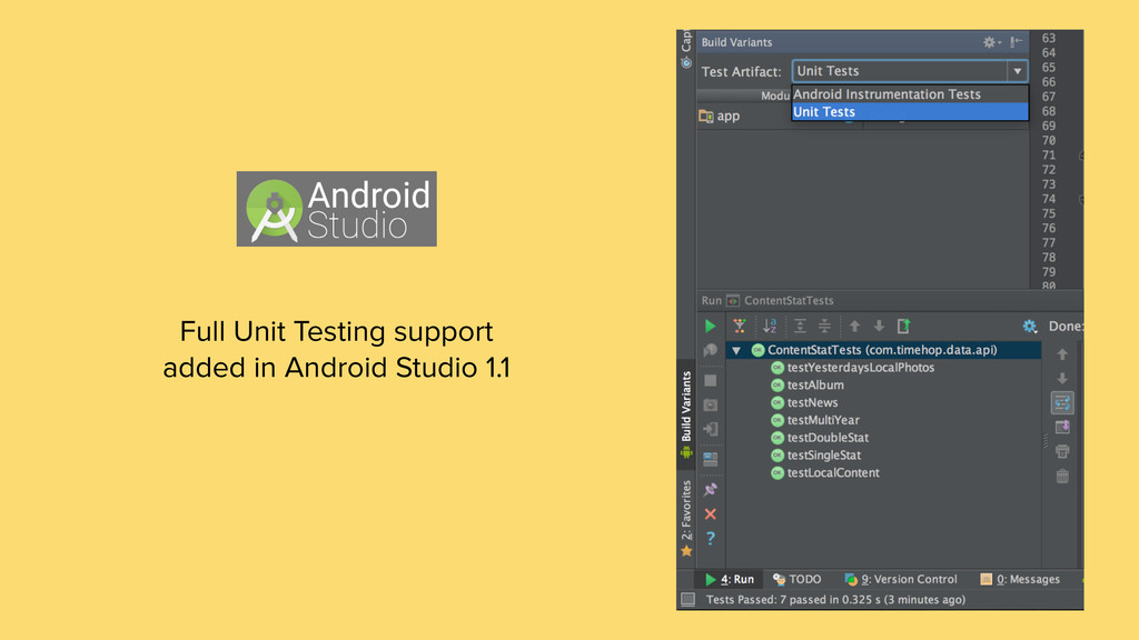 Full Unit Testing support added in Android Stud...