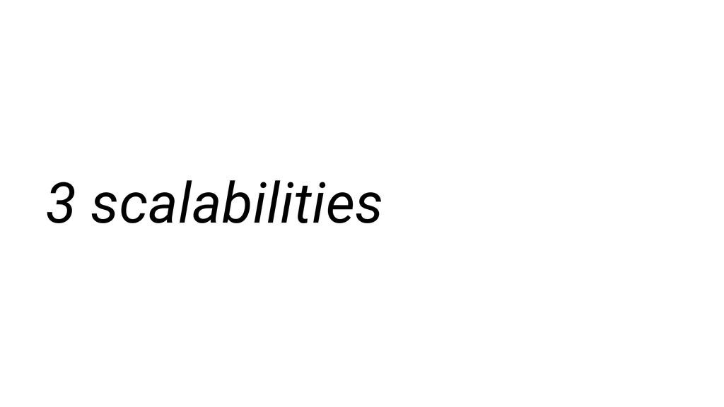 3 scalabilities