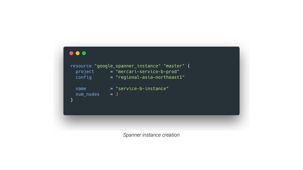 Spanner instance creation