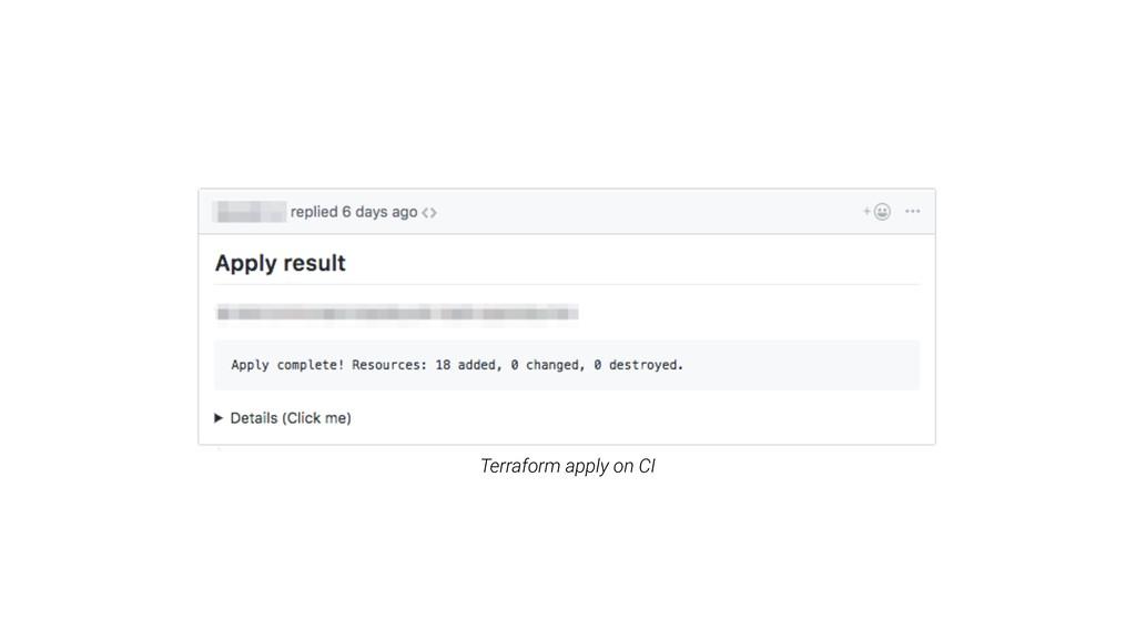 Terraform apply on CI