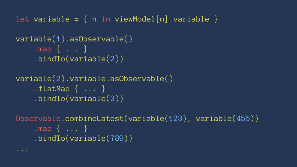let variable = { n in viewModel[n].variable } v...
