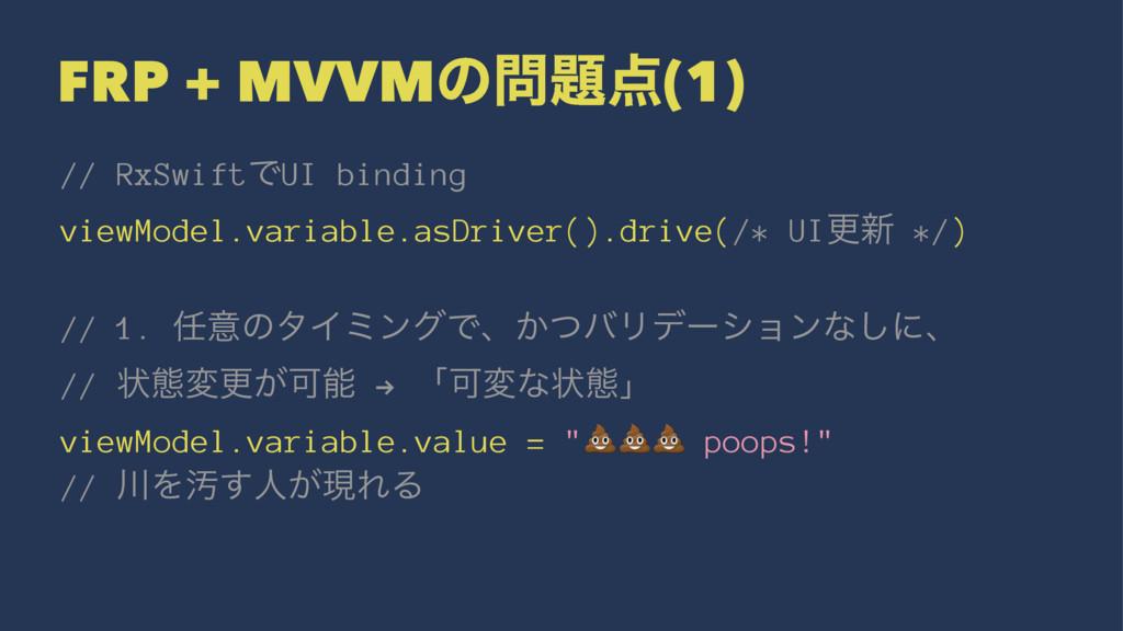 FRP + MVVMͷ(1) // RxSwiftͰUI binding viewMod...
