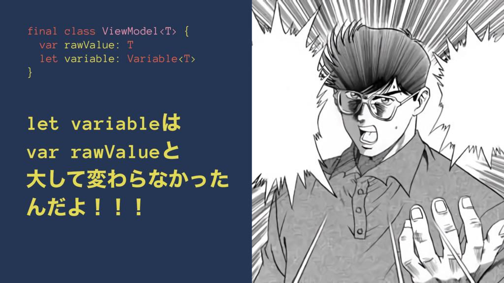 final class ViewModel<T> { var rawValue: T let ...