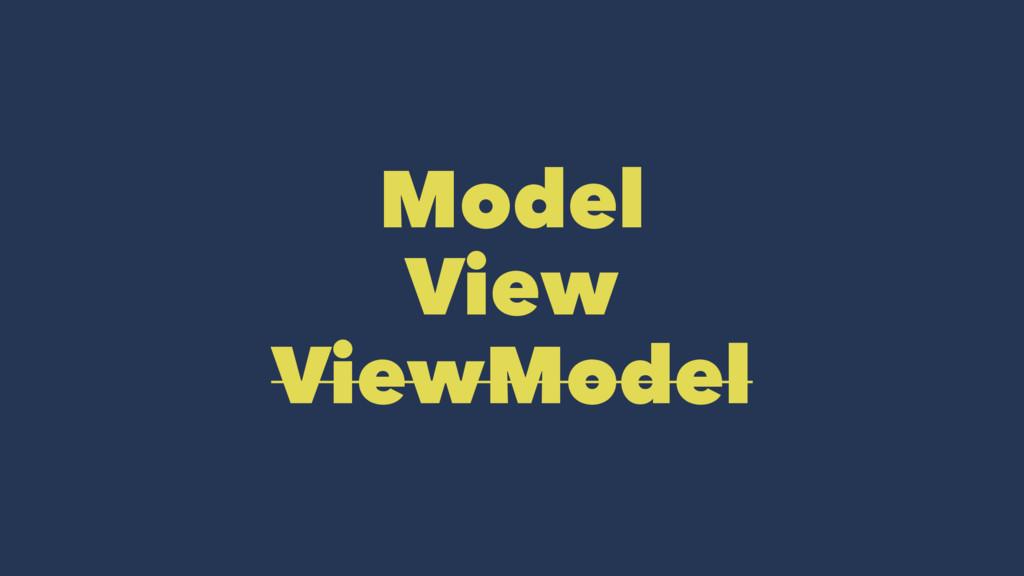 Model View ViewModel