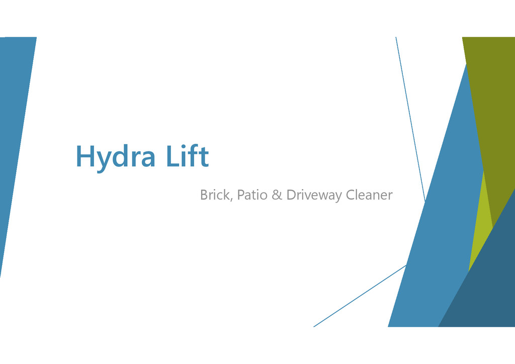 Hydra Lift Brick, Patio & Driveway Cleaner