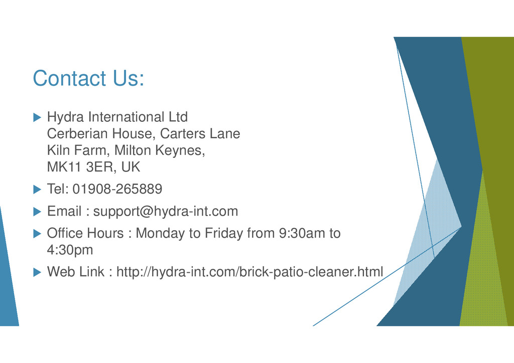 Contact Us: Hydra International Ltd Cerberian H...