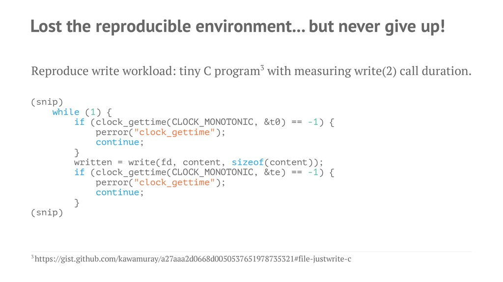 Lost the reproducible environment... but never ...