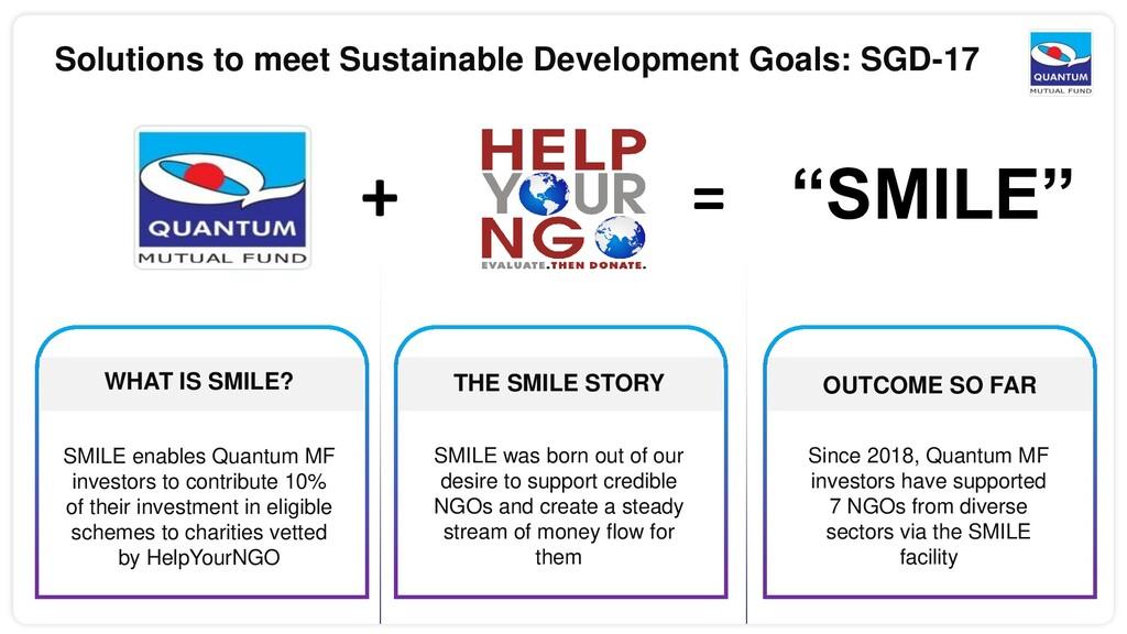 Solutions to meet Sustainable Development Goals...