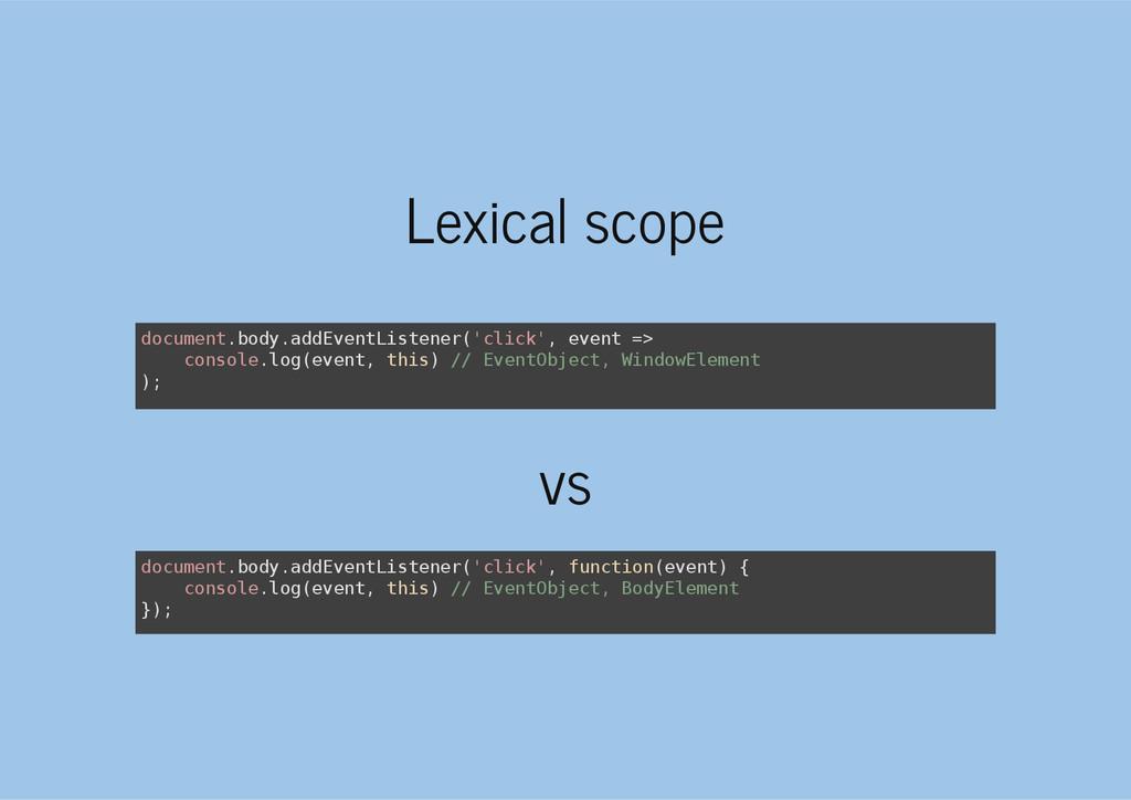 Lexical scope vs d o c u m e n t . b o d y . a ...