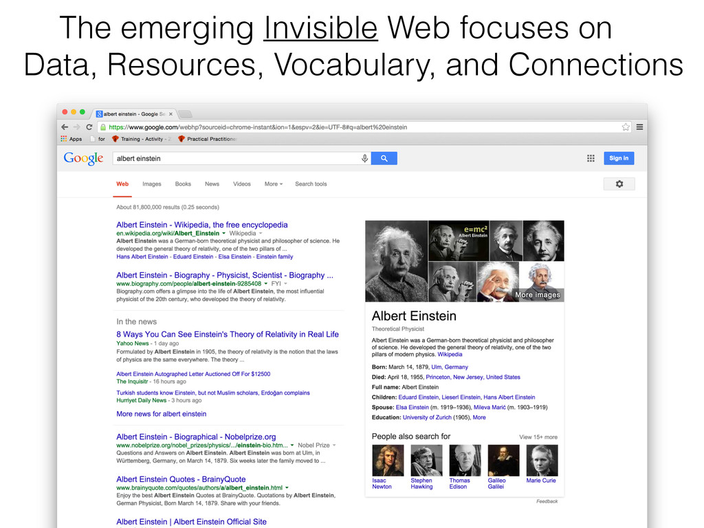 The emerging Invisible Web focuses on 