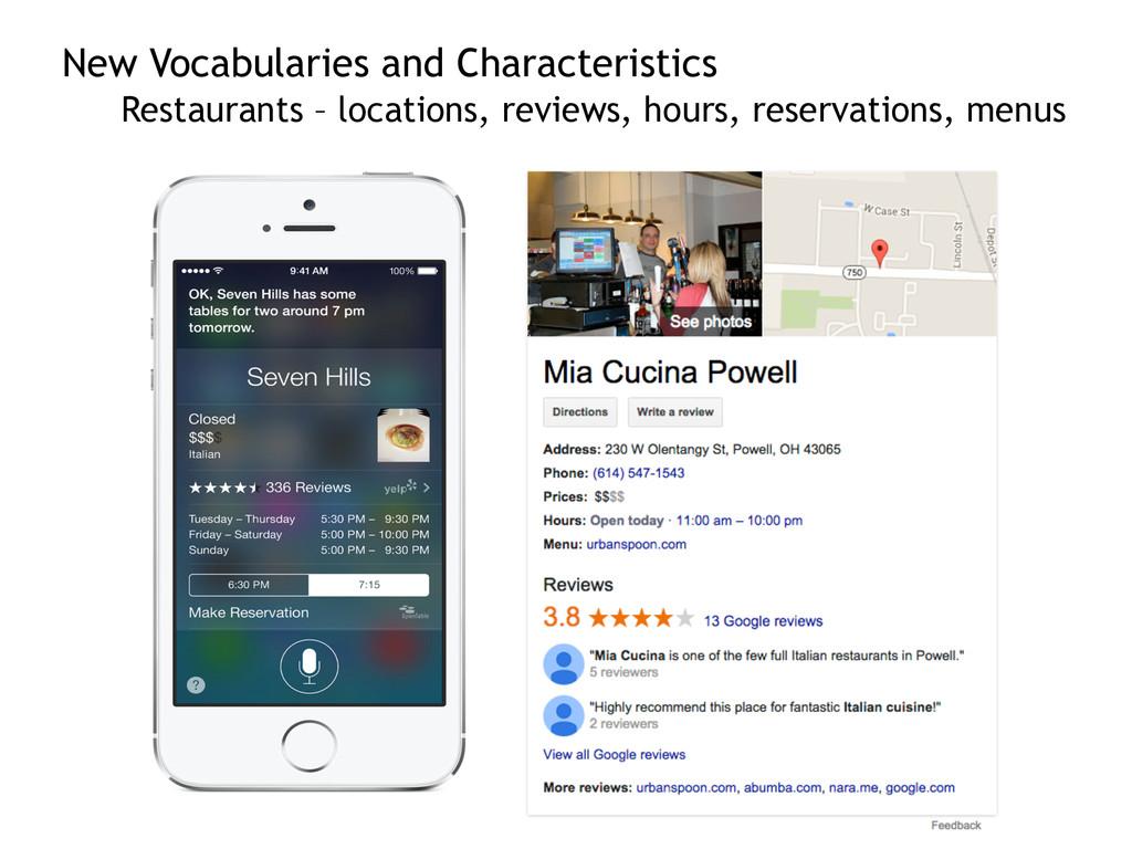 New Vocabularies and Characteristics Restauran...