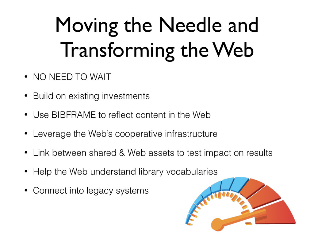 Moving the Needle and Transforming the Web • NO...