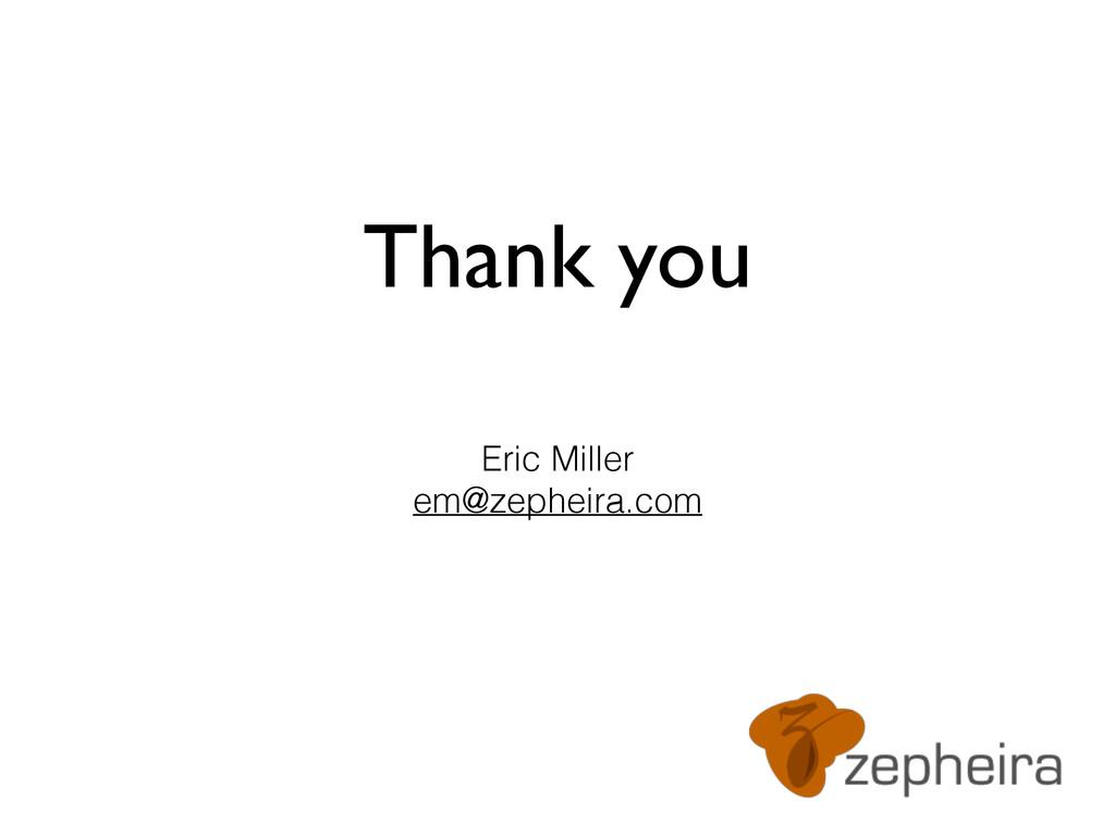 Thank you Eric Miller em@zepheira.com