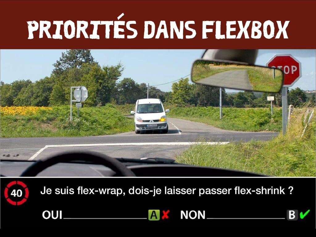 PRIORITÉS DANS FLEXBOX Je suis flex-wrap, dois-j...