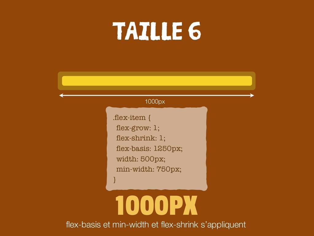 1000PX flex-basis et min-width et flex-shrink s'a...